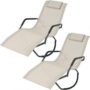Sunnydaze Rocking Chaise Lounge Chair