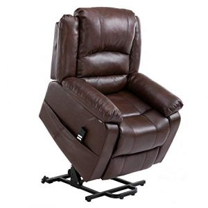 Homegear Air Leather Heavy Duty Dual Motor Power Lift Electric Recliner Chair