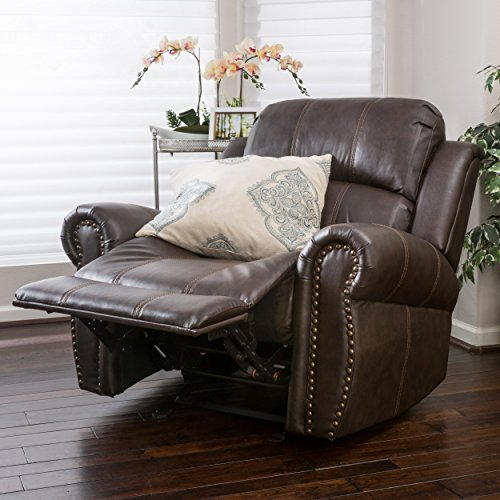 Christopher Knight Home 296466 Leather Glider Recliner Club Chair