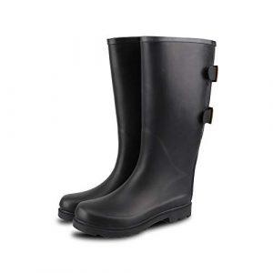 RAHATA Women Rubber Wide Calf Adjustable Rain Boots