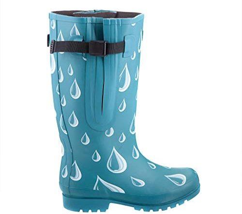 Jileon Extra Wide Calf Rubber Rain Boots