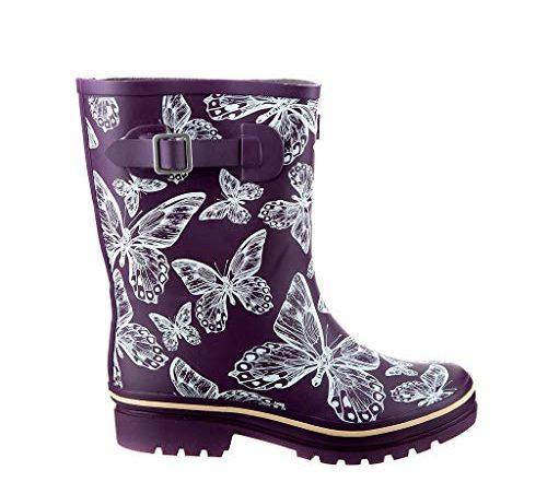 Jileon Half Height Rain Boots for Women