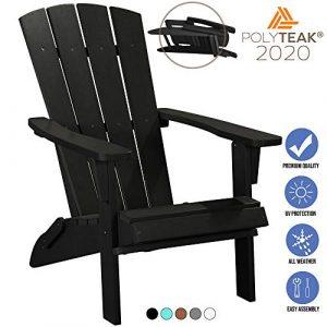 PolyTEAK Modern Folding Poly Adirondack Chair