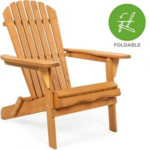 Folding Wooden Adirondack Lounger Chair