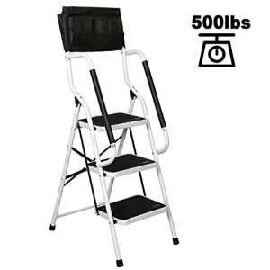 charaHOME 3 Step Ladder Step Stool