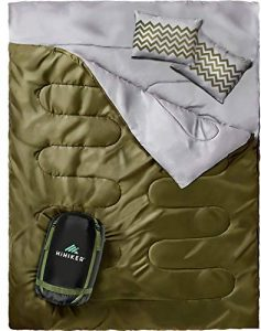 HiHiker Double Sleeping Bag Queen Size XL -for Camping, Hiking Backpacking and Cold Weather