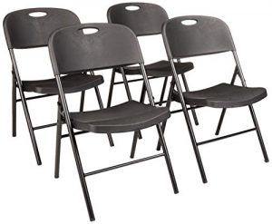 AmazonBasics Folding Plastic Chair 4 Pk. 350-Pound Capacity