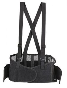 Back Brace Lumbar Support with Adjustable Suspenders