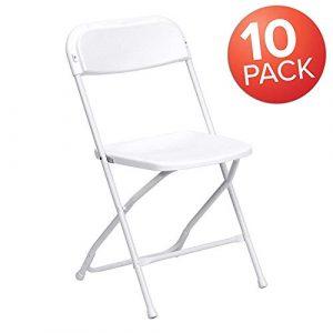 AJP Distributors 10 Pack 650 lb. Capacity Premium Plastic Folding Chairs