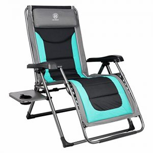 EVER ADVANCED Oversized XL Zero Gravity Recliner Padded Patio Lounger Chair