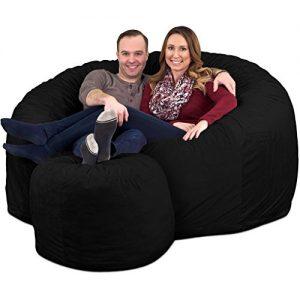 ULTIMATE SACK Bean Bag Chair w/Foot Stool