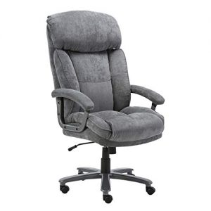 CLATINA Ergonomic Big & Tall Executive Office Chair with Upholstered Swivel 400lbs