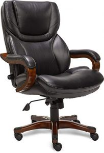 Serta Big and Tall Executive Office Chair with Upgraded Wood Accents