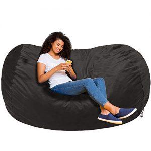 AmazonBasics Memory Foam Filled Bean Bag Chair