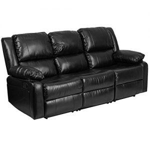 Flash Furniture Leather Recliner Sofa