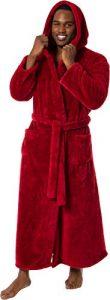 Ross Michaels Men's Luxury 400gsm Hooded Long Robe