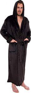 Ross Michaels Men's Hooded Long Robe - Full-Length Big & Tall Bathrobe