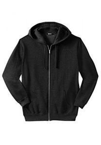 KingSize Men's Big & Tall Fleece Zip-Front Hoodie Fleece Jacket