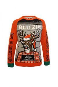 Ugly Christmas Party Ugly Sweater Men's Assorted Reindeer Long Sleeve Sweatshirt