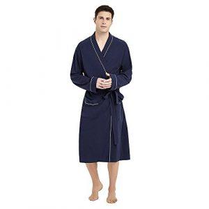 U2SKIIN Men's Cotton Robe Lightweight Knit Bathrobe