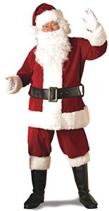 Rubie's Adult Deluxe Ultra Velvet Santa Suit With Gloves