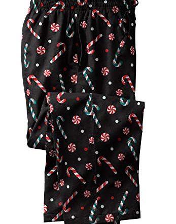 KingSize Men's Big & Tall Holiday Print Flannel Pajama Pants