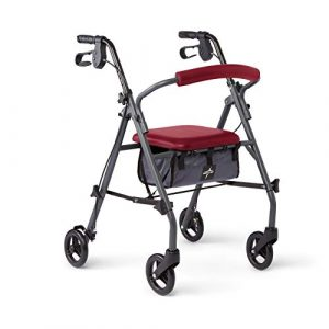 Medline Rollator Walker with Seat and Wheels