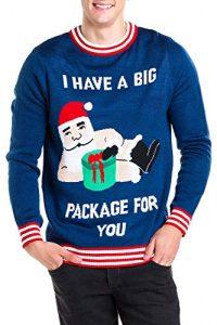 Tipsy Elves Men's Santa Present Christmas Sweater