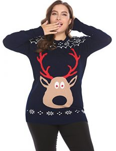 IN'VOLAND Women Plus Size Ugly Christmas Sweater