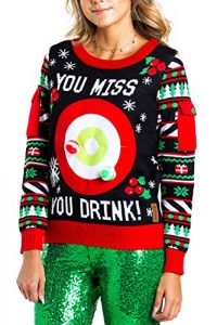Women's Drinking Game Ugly Christmas Sweater