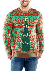 Tipsy Elves Men's Functional Bottle Opener Christmas Sweater