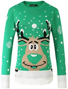 Camii Mia Women's Xmas Party Pullover Ugly Christmas Sweater