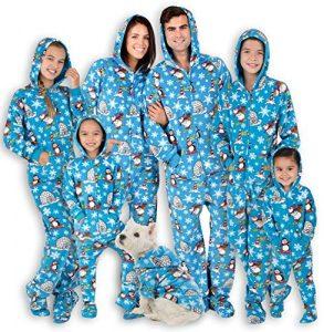 Footed Pajamas - Family Matching Polar Hoodie Onesies