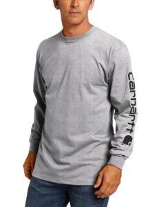 Carhartt Men's Big & Tall Signature-Sleeve Logo Long-Sleeve T-Shirt