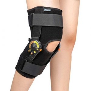 Nvorliy Hinged ROM Knee Brace Adjustable Knee Immobilizer