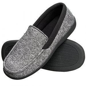 Hanes Men's Moccasin Slipper House Shoe