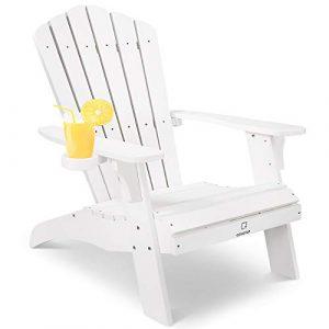 OT QOMOTOP Oversized Poly Lumber Adirondack Patio Chair