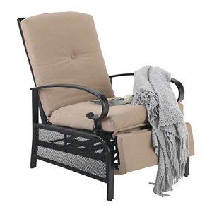 PHI VILLA Patio Adjustable Lounge Chair