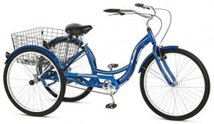 Schwinn Meridian Adult Tricycle With Low Step-Through Aluminum Frame