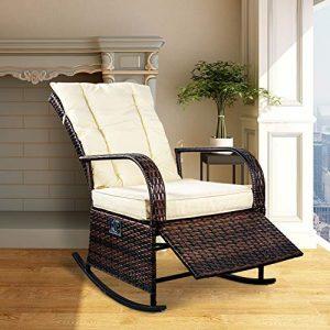SCYL Color Your Life Indoor & Outdoor PE Wicker Rocking Chair