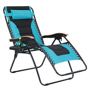 PHI VILLA Oversize Padded Zero Gravity Chair