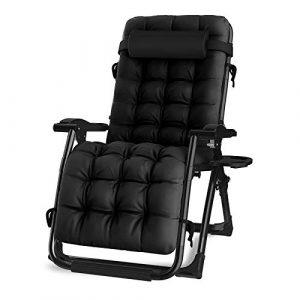 KINGBO Oversized Zero Gravity Chair, Lawn Recliner