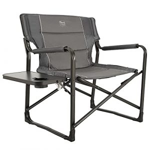 TIMBER RIDGE Oversized Heavy Duty Folding Chair with Side Table
