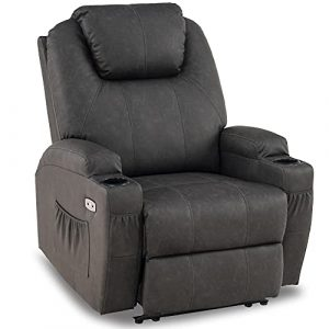 Mcombo Electric Power Recliner Chair with Massage and Heat
