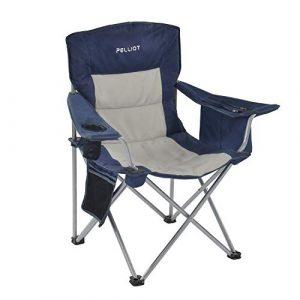 PELLIOT Portable Camping Chair Heavy Duty Lumbar Back