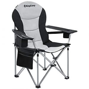 KingCamp Folding Oversized Portable Fully Padded Chair with Lumbar Support