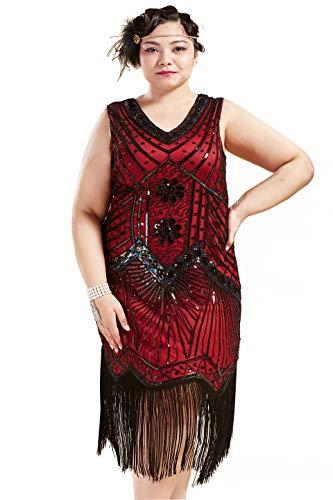Women's Plus Size 1920s Great Gatsby Dress